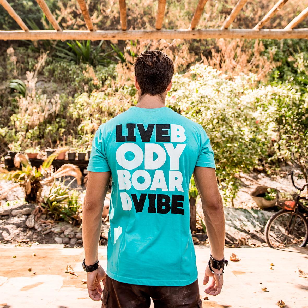 Camiseta T-shirt Live Bodyboard (Linha Paola Simão)