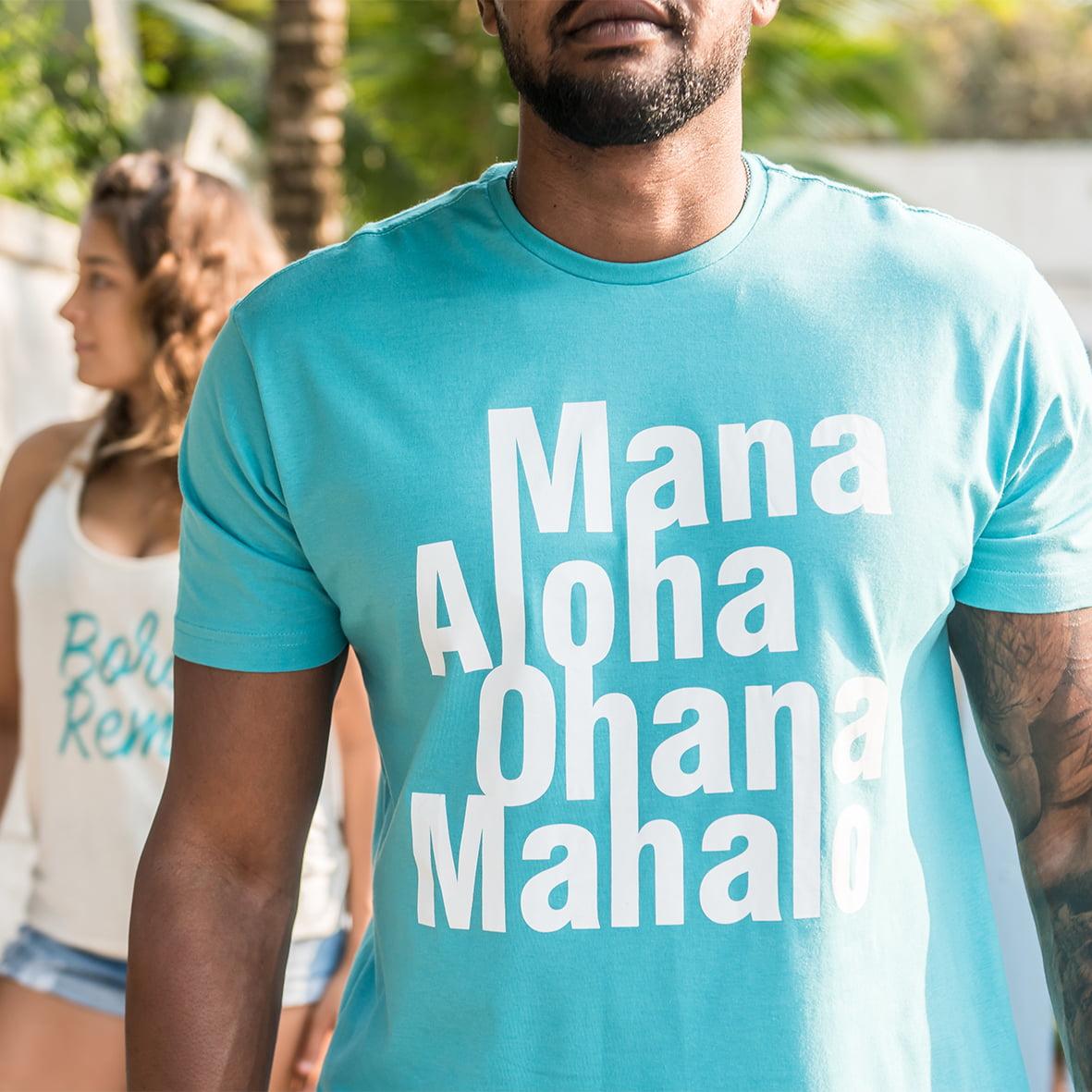 Camiseta Mana Aloha Ohana Mahalo