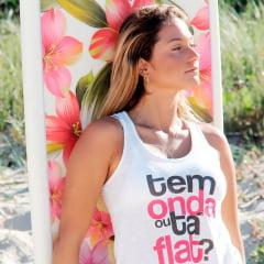Camiseta Regata Feminina Tem Onda